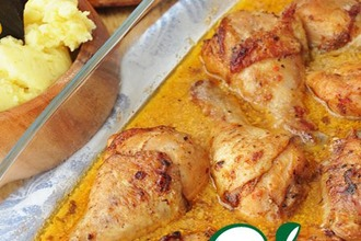Рецепт: Острая курица в сливочном соусе