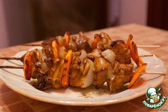 Рецепт: Шашлычки домашние из куриной грудки