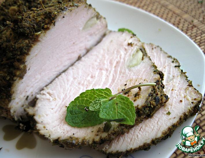 Рецепт: Запеченное мясо индейки в пряностях