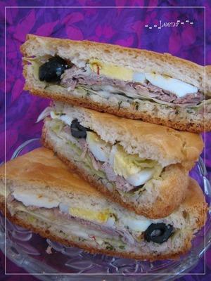 Рецепт: Тунисский сэндвич