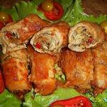 Мясные пальчики с овощной начинкой