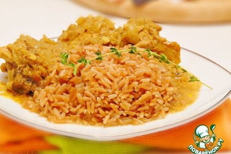 Рецепт: Жареный рис на гарнир