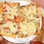 Пицца на два вкуса