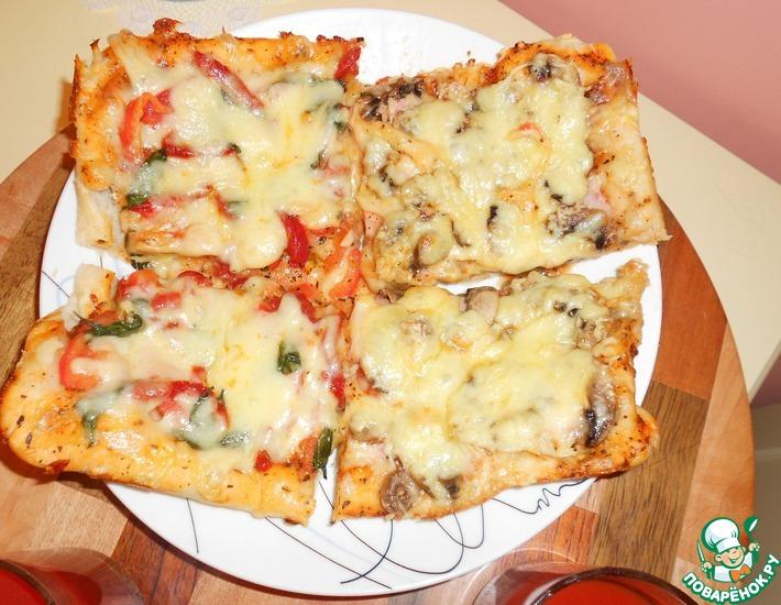 Рецепт: Пицца на два вкуса