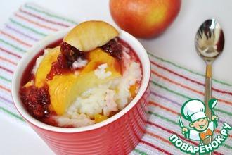 Рецепт: Рисовый пудинг с яблоком и тыквой