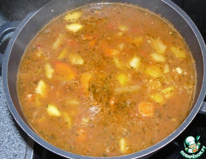 Рецепт: Овощной суп с мясом