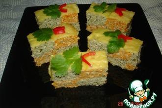 Рецепт: Закусочный тортШахматная партия