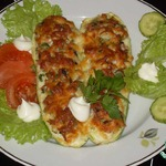 Фаршированные кабачки Пицца-кабачок