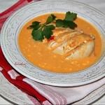 Куриные грудки в кремовом овощном соусе