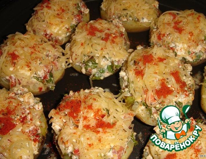 Рецепт: Запеченная картошечка с брынзой