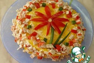 Рецепт: Закусочный тортик Калейдоскоп