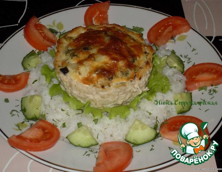 Рецепт: Куриное лукошко с грибами