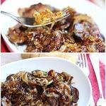 Куриная печень с медовым луком