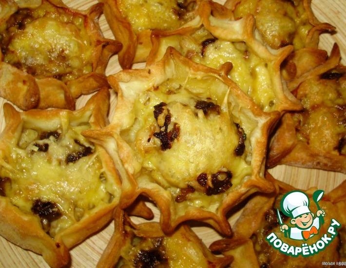 Рецепт: Сырные волованы «Звездный дуэт»