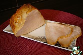 Рецепт: Ветчина из индюшачьей грудки