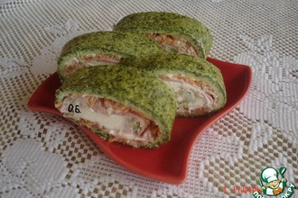 Рецепт: Зеленый рулет