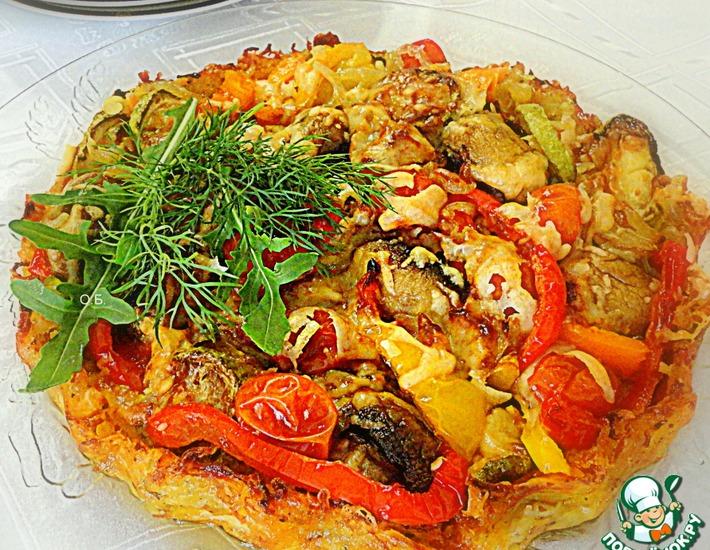 Рецепт: Сырно-овощной тарт