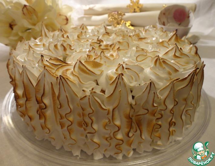 Рецепт: Торт с лимонным кремом и итальянской меренгой