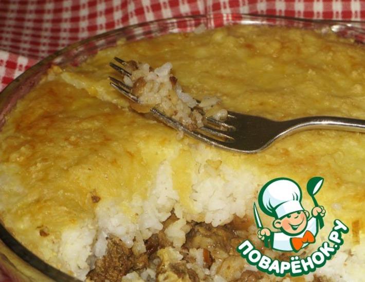 Рецепт: Рисовый пудинг с куриной печенью