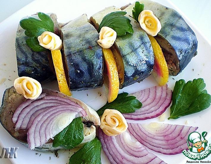Рецепт: Соленая скумбрия