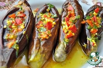 Рецепт: Острые, пряные маринованные баклажаны по-египетски