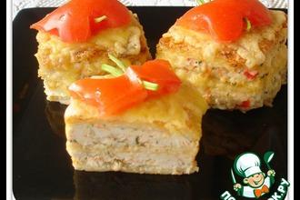 Рецепт: Вафельные квадратики с курицей
