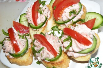 Рецепт: Крабовые бутерброды на аперитив