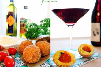 Рецепт: Аранчини с тремя видами начинок