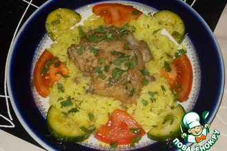 Рецепт: Рис, сваренный под крышкой