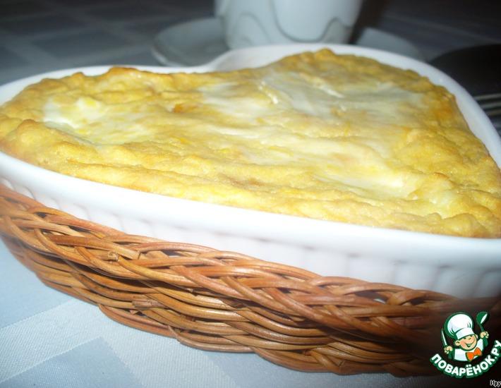 Рецепт: Тыквенно-яблочная запеканка