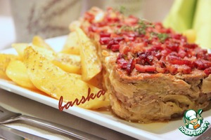 Terrine of ground meat and cabbage