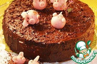 Рецепт: Торт Весёлые поросята