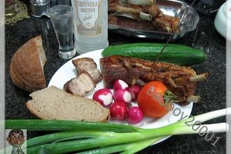 Рецепт: Свиная грудинка