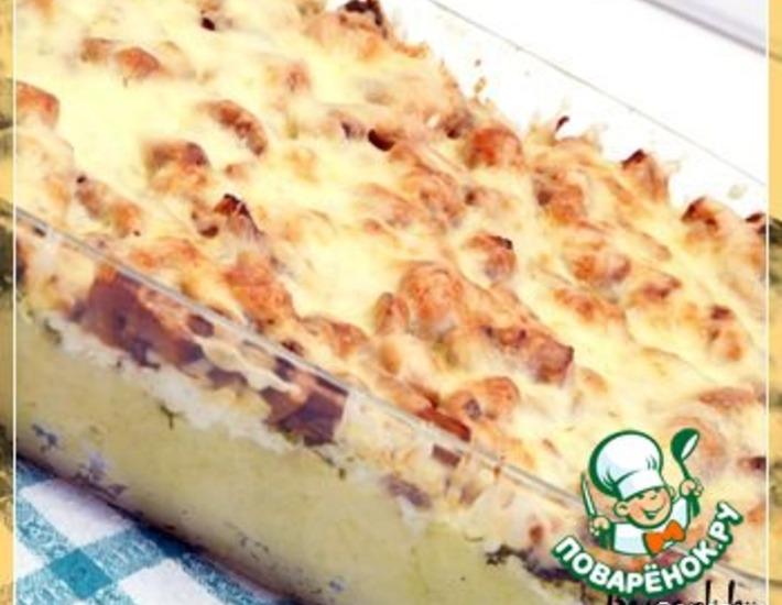 Рецепт: Картофельная запеканка с грибами и брынзой