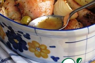 Рецепт: Жаркое из курицы с апельсином и медом