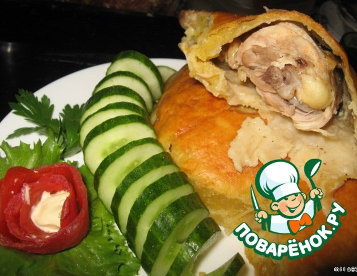 Рецепт: Курица в обертке Спа