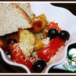 Картофельный гарнир с маслинами