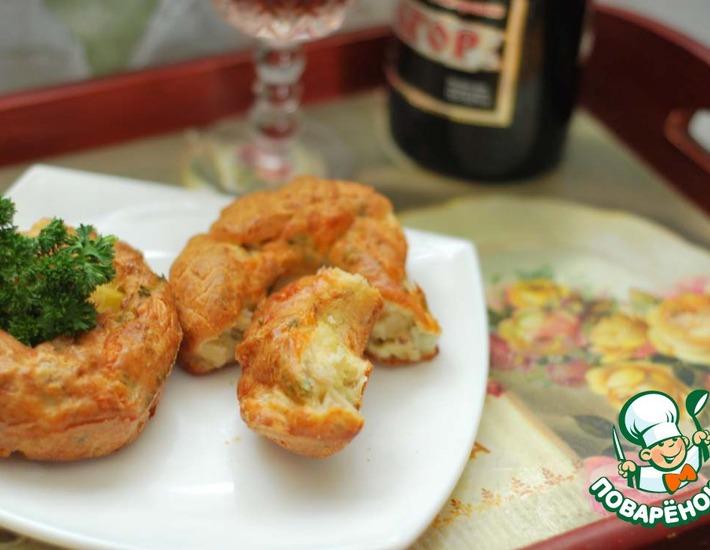 Рецепт: Закусочные маффины Дамский каприз