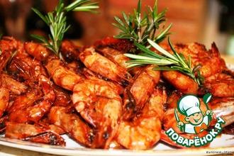 Рецепт: Креветки Тайская ностальгия