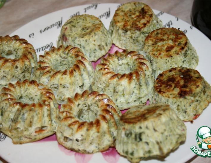 Рецепт: Овощные кексы