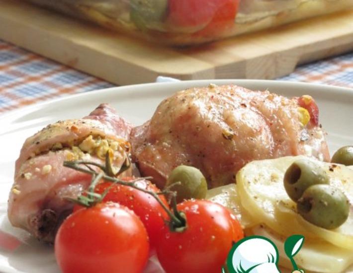 Рецепт: Жаркое из курицы с лимоном и брынзой