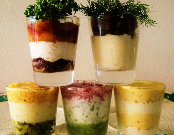 Рецепт: Великолепная пятeрка «Нано-закуски»
