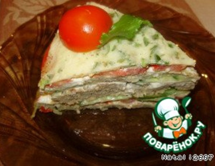 Рецепт: Закусочный торт «Многослойный»