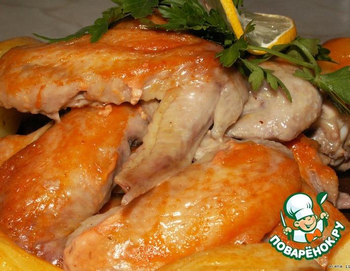 """Рецепт: Куриные крылья """"Воспоминания о Праге"""""""