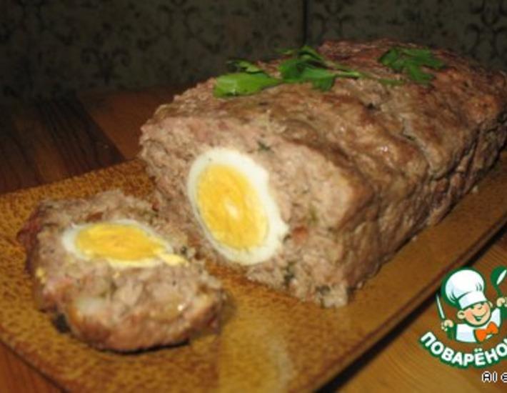 Рецепт: Мясной рулет с яйцом