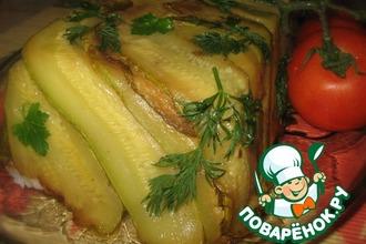 """Рецепт: Запеканка с рисом и кабачками """"Ларец"""""""