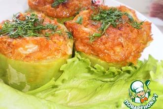 Рецепт: Кабачки Овощные бочонки