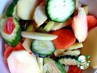 Овощные лодочки с морским окунем ингредиенты