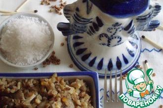 Рецепт: Гречка с грибами, яйцами и луком