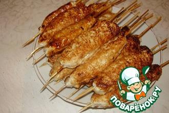 Рецепт: Люля-кебаб из курицы